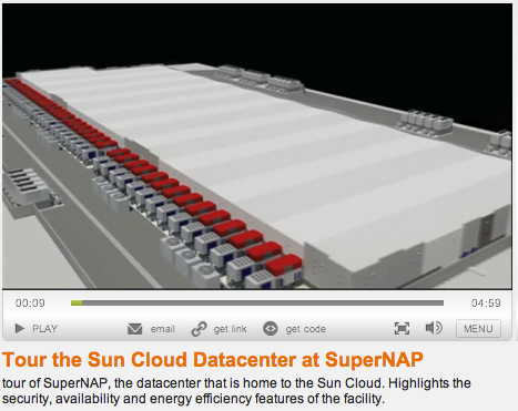 Video of Sun's SuperNAP data centre in Las Vegas