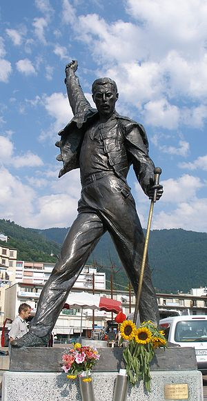 Freddy Mercury Statue in Montreux, Switzerland.